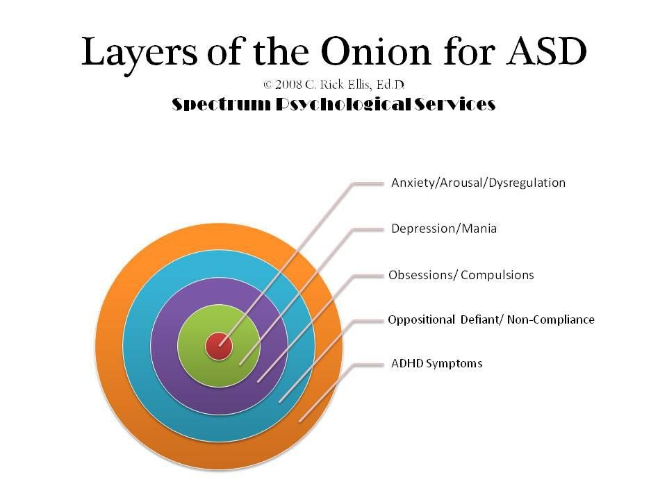 Autism Behaviors are like an onion with lots of layers...